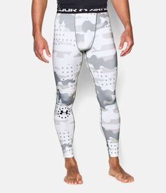 UA Freedom Camo Compression Men's Football Leggings