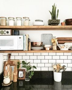 kitchen open shelving styling ideas