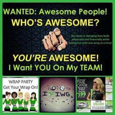Do you want to start earning extra income helping others while helping yourself. Join my team selling That Crazy Wrap Thing!! http://bodybyamyh.myitworks.com!