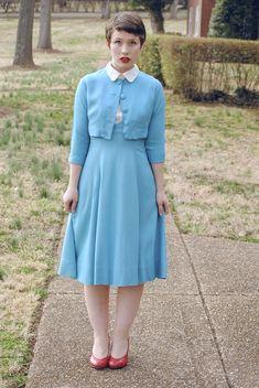 1940s Suspender skirt/jacket set - The Fiercest Lilliputian