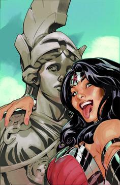 Super-heróis fazendo selfie - Mulher Maravilha