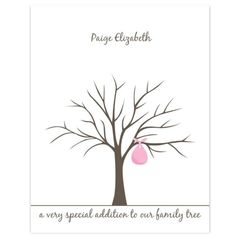 Baby Shower Fingerprint Tree By Lovliday On Etsy