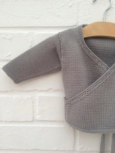 Hand knitted baby crossover cardigan - Available to order in sizes 3-6, 6-12 and 12-18 months on Etsy, $41.80