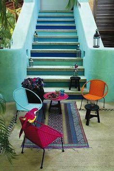 Cozy Moroccan Entryway and Hangout by marieclaire via homejelly #Entryway