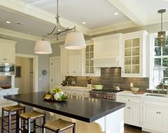 Kitchen Honed Absolute Black Granite Design, Pictures, Remodel, Decor and Ideas - page 10