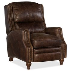 Hooker Furniture Asher Wide Leather Recliner with Nailhead Tri Rock And Roll Allman Indoor Furniture Chairs Recliner Hooker Furniture, Home Office Furniture, Furniture Chairs, Furniture Design, Nice Furniture, Living Furniture, Plywood Furniture, Furniture Sale, Luxury Furniture