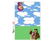 Masha and the Bear: Free Printable Candy Bar Labels.