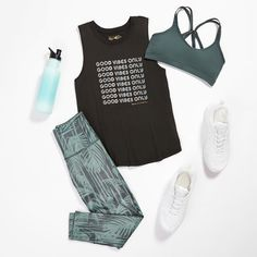 Dance Workout Clothes, Workout Clothes Cheap, Cute Sporty Outfits, Sport Outfits, Yoga Fashion, Fitness Fashion, Fitness Wear, Looks Academia, Stitch Fix Outfits