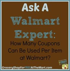Ask a Walmart Expert: How Many Coupons Can Be Used Per Item at Walmart?