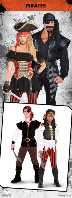 Rule Halloween and dress to thrill with Pirate costumes from Party City! & 52 best Group/Family Costumes images on Pinterest | Family costumes ...