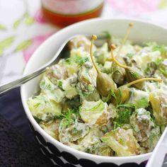 New Recipes, Salad Recipes, Vegan Recipes, Vegan Food, Easy Delicious Recipes, Yummy Food, Cocktail Party Food, Potato Salad, Vegane Rezepte