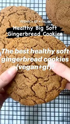 Healthy Sweets, Healthy Dessert Recipes, Gluten Free Desserts, Vegan Desserts, Baking With Coconut Flour, Vegan Baking, Healthy Baking, Bright Line Eating Recipes, Soft Gingerbread Cookies