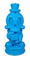 Tenacious Toys Exclusive Blue MAD Modern Hero 18-inch bank.       18in Tall Roto-cast Vinyl Bank     Removable Top Hat     Coin Slot on top of head     Head rotates left & right     Coin Bank plug on bottom of base     Tenacious Toys Exclusive Blue     Limited to 30 pieces     Packaged in 2 color box w/ foam