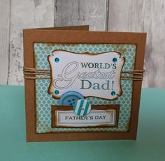 Fathers Day card made using docrafts free printables and the free gifts from the docrafts Creativity magazine