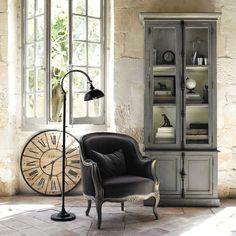 Fauteuil de salon gris anthracite Montpensier | Maisons du Monde