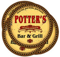 Personalized World Famous Bar & Grill Coasters