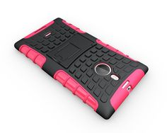 NOKIA LUMIA 1520 CASE, TPU PRIME DUAL LAYER COVER WITH KICKSTAND (HOT PINK) | #cellphonegadgets #mobileaccessories www.kuteckusa.com