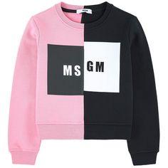 Two-colored fleece sweatshirt