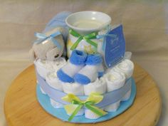 Baby Boy or Girl one tier Scentsy Diaper Cake  an by SquirmyWorms, $25.00