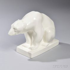 Wedgwood Moonstone Model of a Polar Bear. | Auction 2920M | Lot 461 | Sold for $492