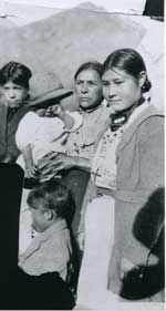 The Mountain Métis. Flora Delorme (rt) was Colin Fraser's great granddaughter and Adam & Friesan Joachim's daughter. She married Louis Delorme and the couple lived at Victor Lake near Grande Cache.