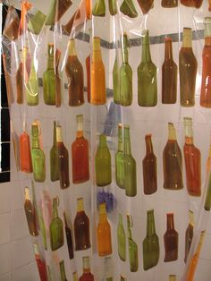 beer shower curtain...