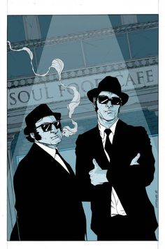 The Blues Brothers. Blues Brothers in Color Blues Brothers Costume, Blues Brothers 2000, Band Of Brothers, Music Artwork, Art Music, Play That Funky Music, Rocky Horror, Blue Art, Rock Music