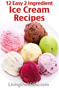 12 Easy Easy 2 Ingredient Homemade Ice Cream Recipess