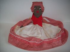 Old pictures of black dolls | Vintage Black Doll 1950s Collectible Soft Doll in Gingham Dress