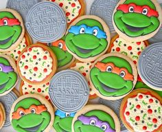 TMNT & Pizza party cookies