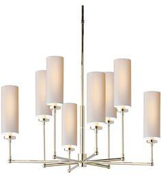 Visual Comfort Thomas OBrien Ziyi 8 Light Chandelier in Polished Nickel TOB5016PN-NP #visualcomfort