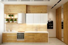 Beautiful kitchen design with wooden accent... | Visit : roohome.com    #kitchen #decoration #amazing #awesome #gorgeous #interior #creative #unique #simple #beautiful