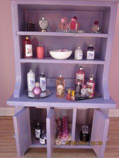 Shabby Chic  Lilac Toiletries Hutch by kensingtonminiatures, $79.00