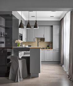 Дизайн проект однокомнатная квартира, спальня за ажурным стеклом