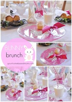 Put together a darling Bunny Brunch and enter a Giveaway! - your homebased mom #carriedaway