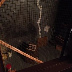 """""""basement"""" pepper's ghost effect, room built upside down with mirror Smoke And Mirrors, Halloween Haunted Houses, History Museum, Minnesota, Illusions, Basement, Magic, Room, Crafts"""