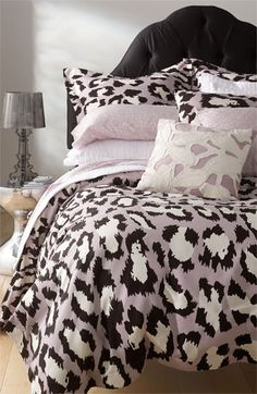 Diane von Furstenberg (minus the spotted cat duvet) Dream Bedroom, Master Bedroom, Bedroom Decor, Bedroom Ideas, Master Suite, My New Room, My Room, Spotted Cat, Suites