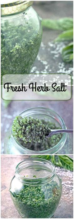 Fresh Herb Salt is so easy to make. Perfect way to preserve all those wonderful…
