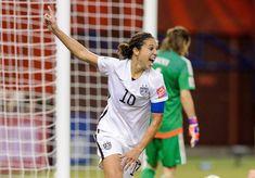 Carli Lloyd after setting up Kelly O'Hara's goal against Germany, June 3, 2015. (Minas Panagiotakis/Getty Images)