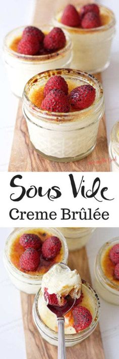 This sous vide creme brulee recipe is practically foolproof. There are four crem… This sous vide creme brulee recipe is. Dessert Simple, Desserts Français, Dessert Recipes, Plated Desserts, Cheesecake Recipes, Creme Brulee Ingredients, Easy Creme Brulee Recipe, Vegan Creme Brulee, Creme Brulee Cake