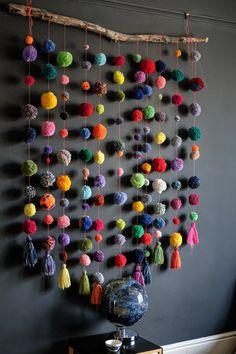 Pom Pom Crafts, Yarn Crafts, Home Crafts, Diy And Crafts, Crafts For Kids, Arts And Crafts, Paper Crafts, Family Crafts, Preschool Crafts