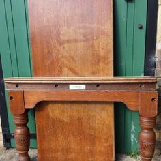Burroughes and Watts 8ft snooker diner in oak.B578 | Browns Antiques Billiards and Interiors.