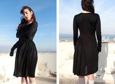 20 OFF SALE Asymmetric Long Sleeve Cotton T Shirt by KarniKadan, $109.00