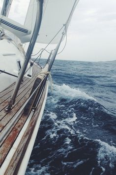 packlight-travelfar:  Sailing is the definition of freedom and adrenalin. Off the coast of Croatia. Shot with my iPhone 5 + Lifeproof