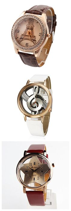 Tired of boring watches? How about watches with unique faces, like the Eiffel Tower, music signs, and stars? Find a unique watch to suit your style now!
