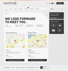 DETAIL SIDEBAR     Redesign of a digital agency's website by Nelleke van der Maas, via Behance