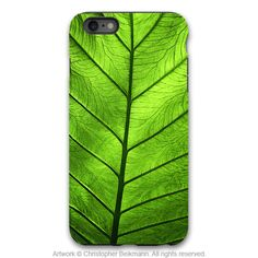 "Green Leaf iPhone 6 6s Plus TOUGH Case - Unique iPhone 6 6s Plus case with Zen Artwork ""Leaf of Knowledge"" by Da Vinci Case USA"