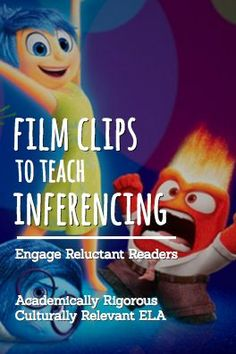 "Why not teach common core standards for English Language Arts using Pixar short films, Ted Talks, popular film clips for students and other inspirational video clips for students? For example, have students practice CCSS.RL.1: Instuct students to watch the Inside Out Video Clip. Ask students to ""Describe how the author used indirect and direct characterization to share each character's personality."" For an entire year of highly engaging, no prep lesson plans and student activities, download…"
