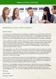 Experienced writer is assigned for you to make a writing for a Marketing Cover Letter that definitely assist you to get the job. When you need a Marketing Cover Letter, do not forget to visit http://www.samplecoverletters.net/marketing-cover-letter-examples/