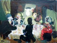 "Saatchi Art Artist ofir dor; Painting, ""Finger Food"" #art"